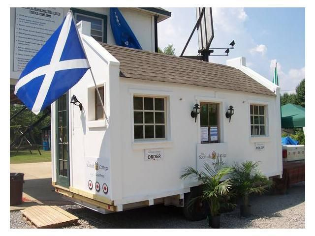 Tiny House Scottish Cottage -- love the exterior of this one!