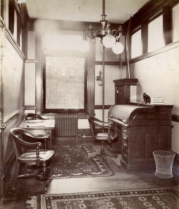 Telegram Building (1900-1963); interior, exchange editor's room, Toronto, Ontario