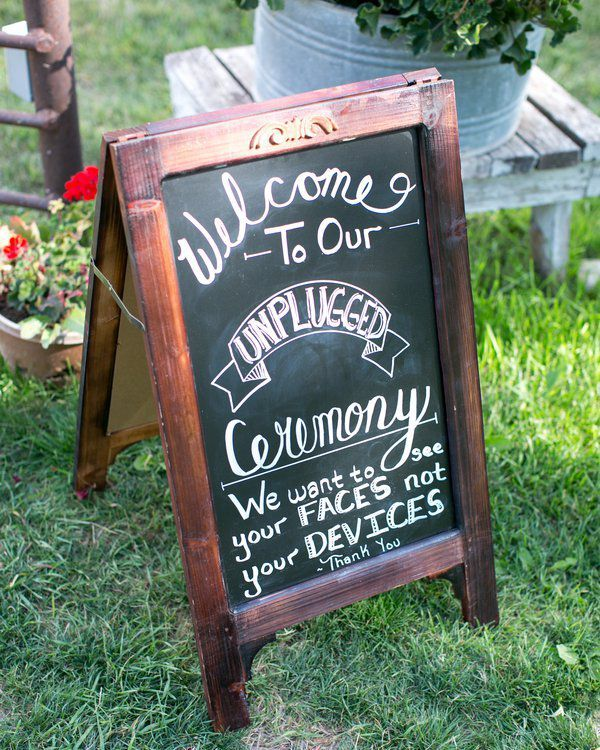Outdoor Rustic Wedding Sign