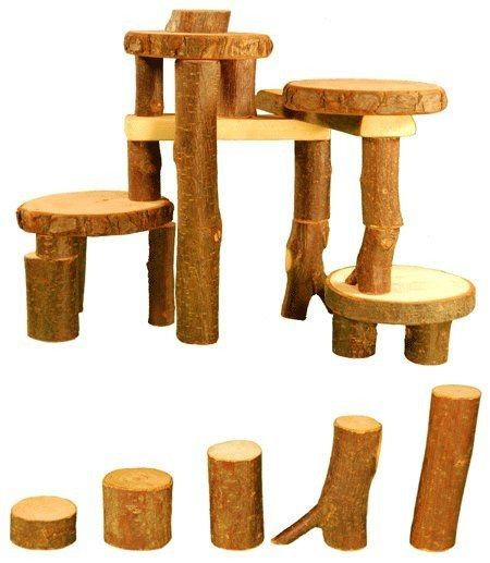 Beautiful! Love the natural look and feel, so encouraging for creativity! #EntropyWishList #PintoWin  Magic Wood Tree Blocks Construction Set | Entropy