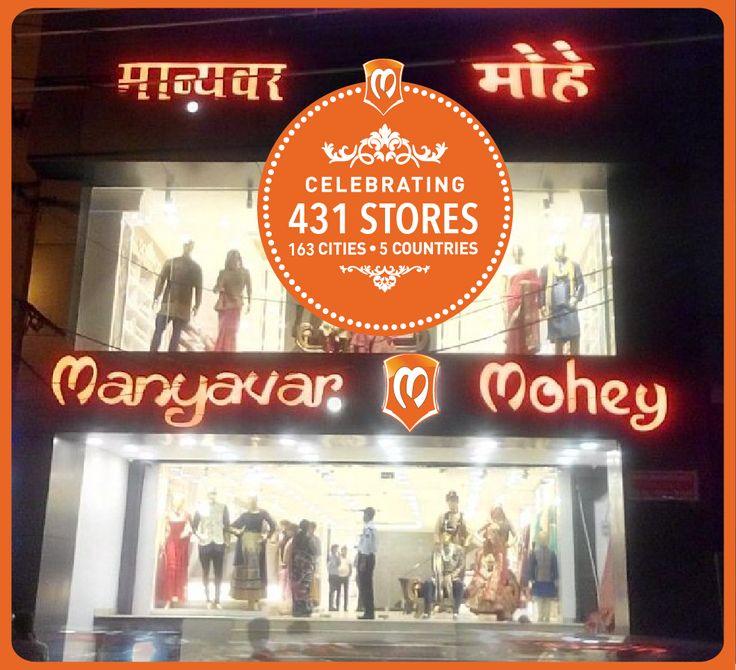 Namaskar Gorakhpur, Manyavar's 431st and Mohey's 23rd store. Celebration Wear for dashing men & discerning women.