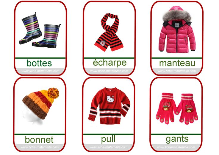 Imagier homeschool imagiers vocabulaire et cartes de nomenclature pint - Les vetements d hiver ...