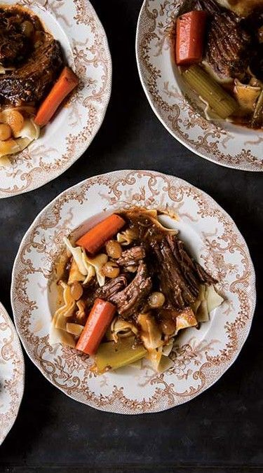 Our Yankee pot roast recipe calls for carrots, celery, and pearl onions, but you can swap them out for equal amounts of your favorite vegetables. Yankee Magazine