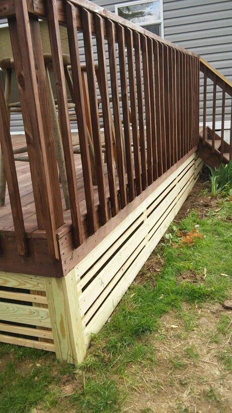 Back deck skirting                                                                                                                                                      More