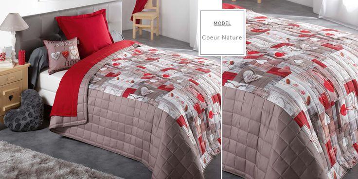 Francúzske prehozy s potlačou | Prehoz na posteľ s potlačou Coeur Nature | Bytový textil a dekorácie | dekorstudio.sk