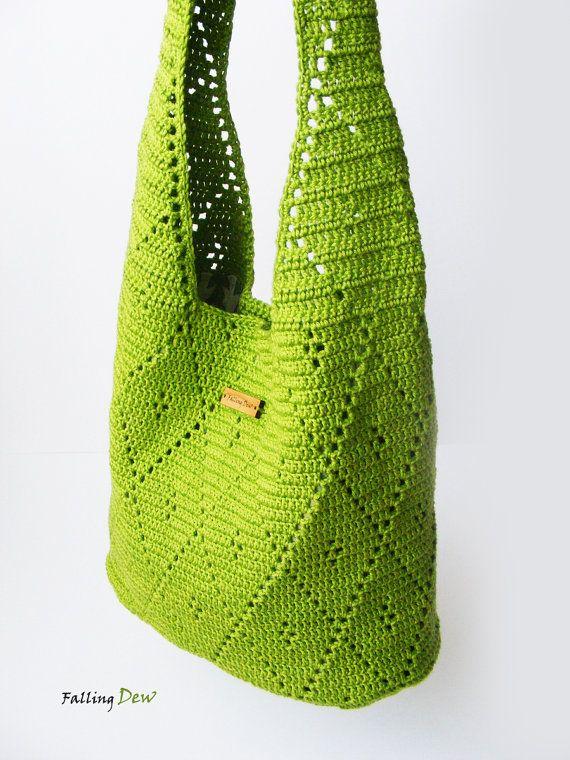 Crochet Handbag / Crochet Purse Spring Handbag / от FallingDew