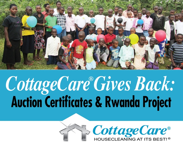 """CottageCare® has created a ministry to provide housing, food, clothing , education, & health care to needy children and widows in Rwanda, Africa. It is a charitable work initiated by principals of CottageCare who regularly travel to oversee and expand the work of  providing a """"handup""""...not just a hand out."""