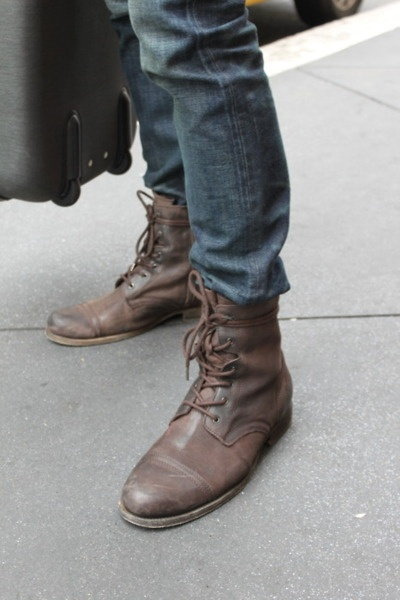 leather boots are my favorite men's casual shoe. I WANT THESE BOOTS SO  BADLY!