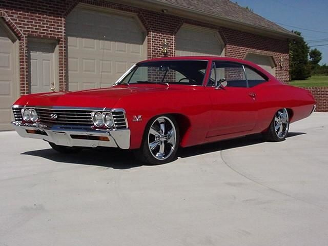 1967 Chevy Impala SS - my first car was a 1967 Chevy Impala. Mine was blue with a white top.
