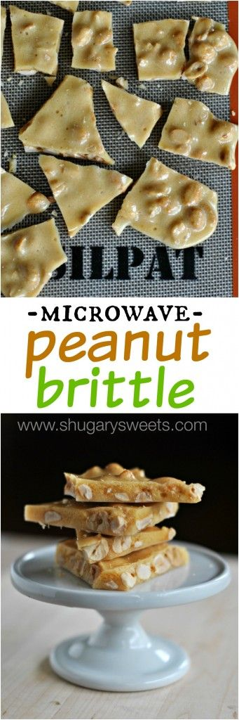 Peanut Brittle: made in the microwave in TEN minutes! #candy