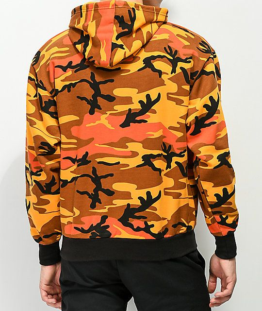 e94af7c6 Rothco Savage Orange Camo Hoodie in 2019 | Cute Fitts | Camo hoodie ...