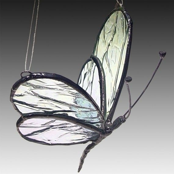 Stained Glass Butterfly - Cara Mia  This very popular Glass Winged Butterfly is inspired directly from nature.    The Butterfly is a universal symbol of