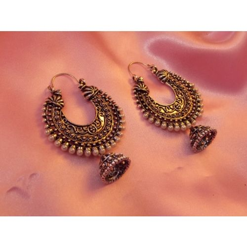 oxidized GOLDEN  jhumka