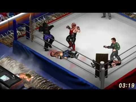 Fire Pro Wrestling - Meltzer, Vader & Shlak vs Undertaker, Bear & Tanahashi