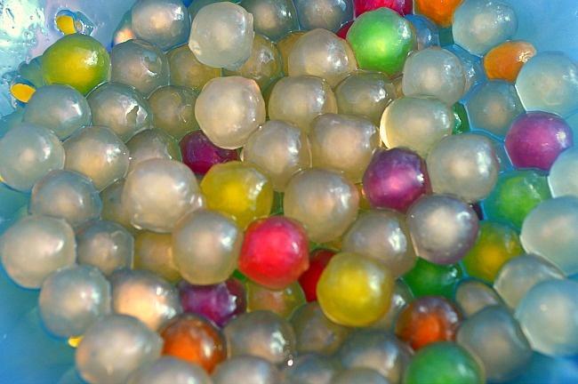 "Sensory Activities : Edible ""water"" beads"