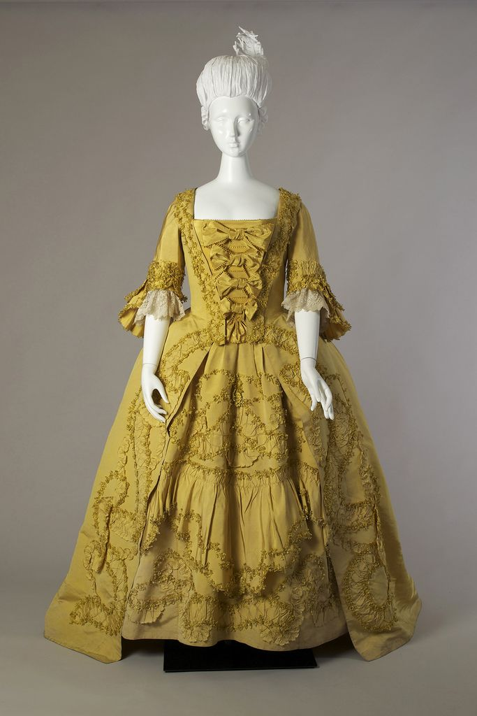Yellow silk robe à la française, ca. 1760-1779 | Flickr - Photo Sharing!