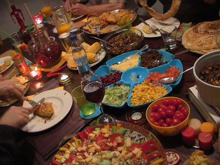 Image result for family dinner feast