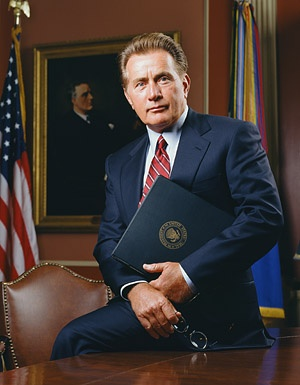 """Martin Sheen as the President on """"The West Wing"""""""