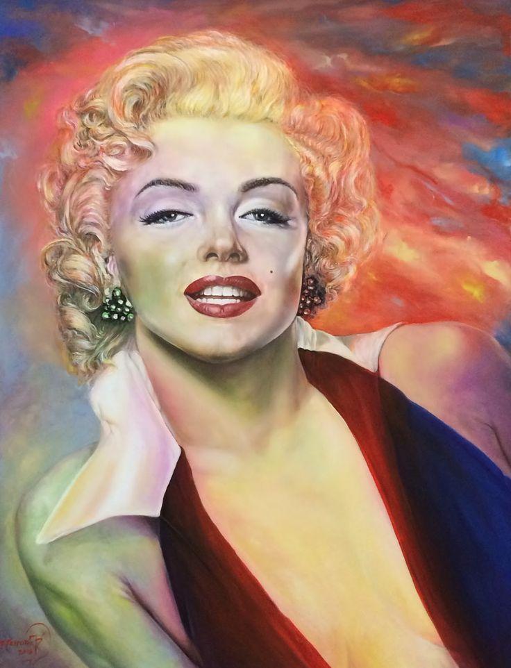 Marylin Monroe - serie 2014 -70x90 -  Acrilico su Tela -