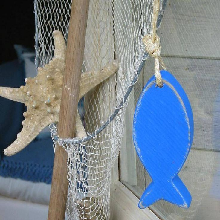 rustic hanging fish decoration by giddy kipper | notonthehighstreet.com