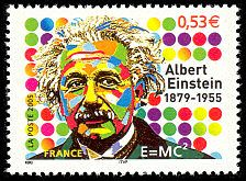 Albert Einstein 1879 - 1955 - E=mc² - Timbre de 2005