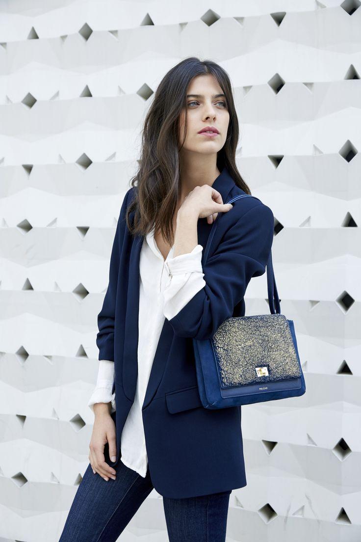 Numéro Deux - Édition Trio Bleu Doré - 285€  www.polene-paris.com  #handbag #fashionstyle #newbrand #parisianstyle #bagaddict #fashionista