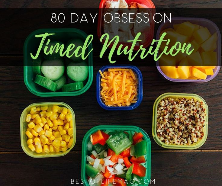 A key part of the success of the 80 Day Obsession Workout is the Timed Nutrition Plan that takes Beachbody portion control containers to the next level for maximum weight loss. #NutritionPlans