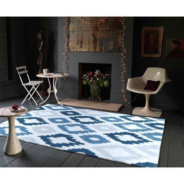 GRACE RUG 627 BLUE Quality Modern Floor Mat Carpet FREE DELIVERY*