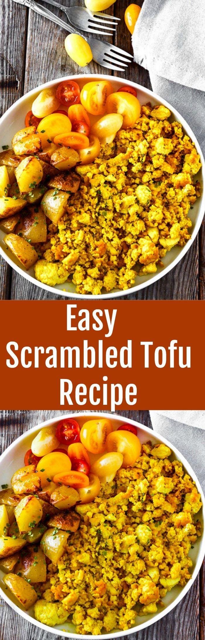Easy Scrambled Tofu Recipe, so easy to prepare and delicious!