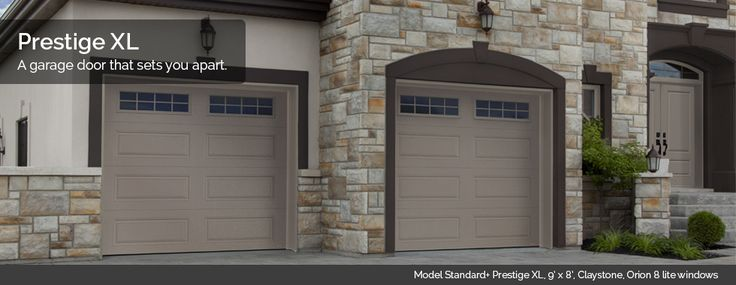 The new design Prestige XL from Garaga garage doors which matches with Novatech's entry doors (Orleans, Sydney & London)