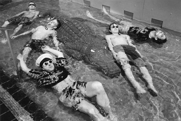 Witold Krassowski. Britain. A party in Fulham Pool, London, 1988