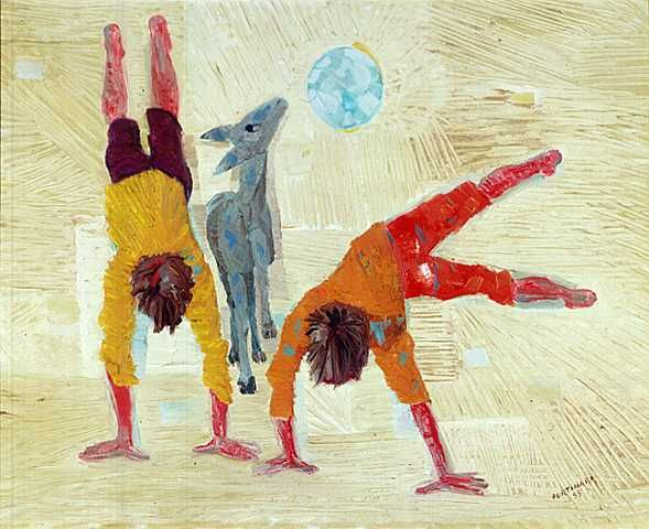 Boys playing(1955) - Oil on Canvas- Candido Portinari.