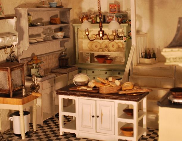 Mouse House Kitchen With Lots Of Breads In The Making Made By