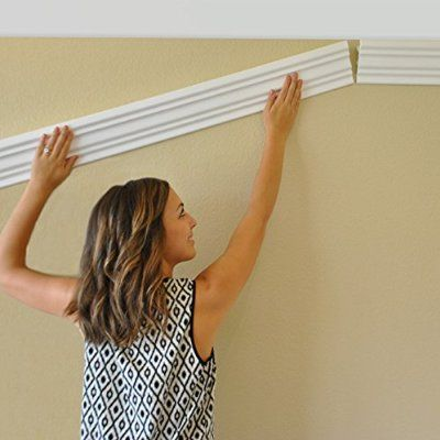 """64 Ft of 3.5"""" Angelo Foam Crown Molding room kit W/precut corners on end of lengths (AVAILABLE IN 5 OTHER STYLES AND QUANTITIES-SEE OUR OTHER LISTINGS) by Austin Crown Molding"""