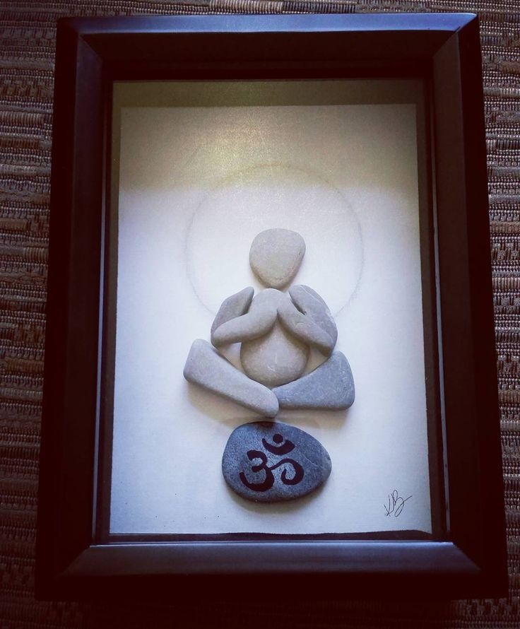 """OM""  Pebble art                                                                                                                                                                                 More"