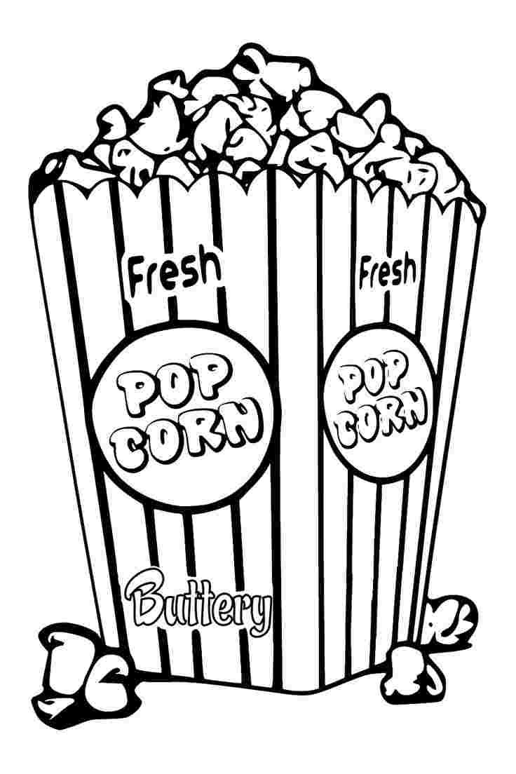 Popcorn Container Coloring Pages In 2020 Coloring Pages Colored Popcorn Coloring Sheets