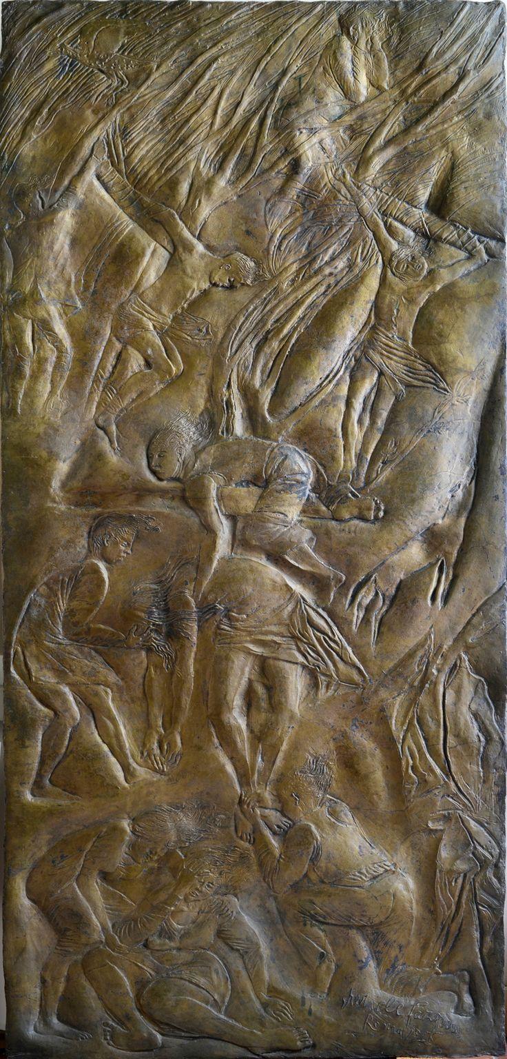 Pericles Fazzini (Grottammare 1913-Rome 1987), Deposition, 1946. Bas-relief, bronze, 180.5 x 85 x 3.5 cm. Rome, Galleria d'Arte Moderna in Rome Capital, AM 2843 © Roma Capitale © Pericles Fazzini, by SIAE 2015