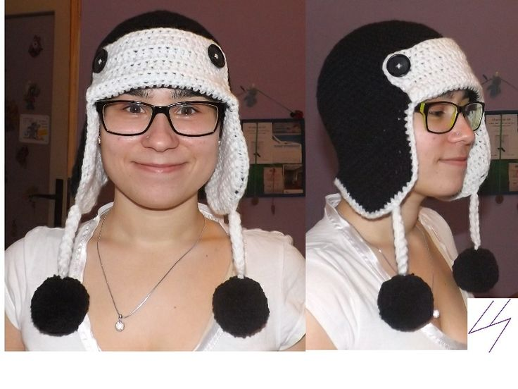 crochet hat for the winter - BLACK