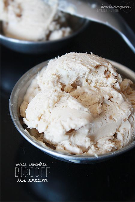 Biscoff White Chocolate Chip Ice Cream | Desserts and Sweets | Pinter ...