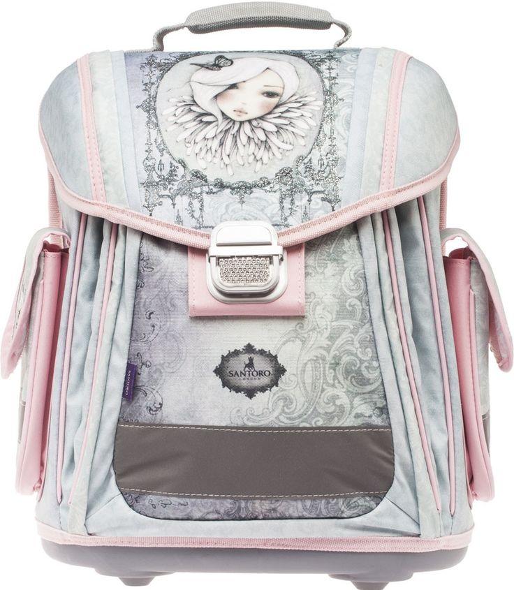 Santoro London batoh školní anatomický 25l Mirabelle Augustine Šedá růžová - 0