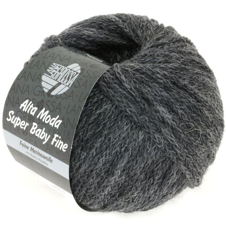 ALTA MODA SUPER BABY FINE uni 12-dark gray mix