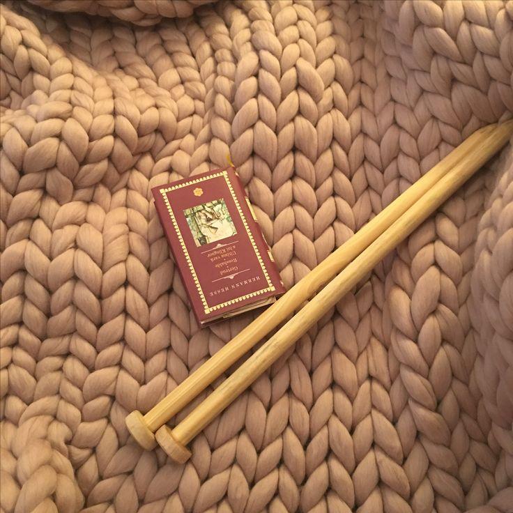 Paturica handmade lana Merino - Mink Giant Knitting