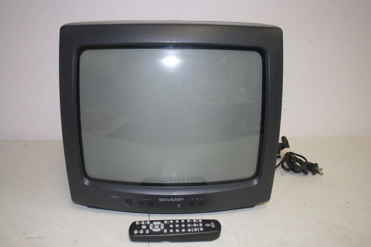 """Sharp 13g M60 13"""" CRT TV Television Tested with Remote 