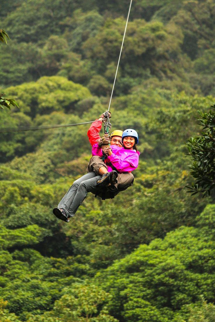 Ziplining in Selvatura Park, Monteverde, Costa Rica