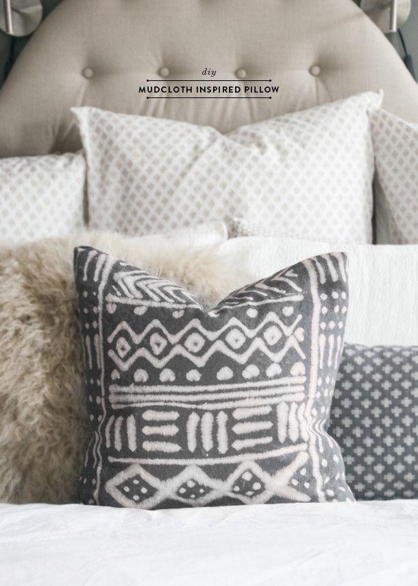 Diy Mud Cloth Pillow Earnest Home Co Home Bleach And