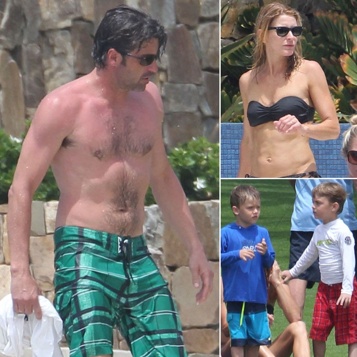 Patrick Dempsey Goes Shirtless For Family Spring Break in Cabo | Pictures