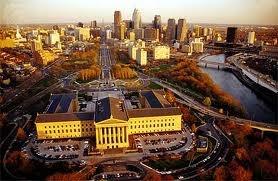 The Philadelphia Museum of Art and surrounding area!