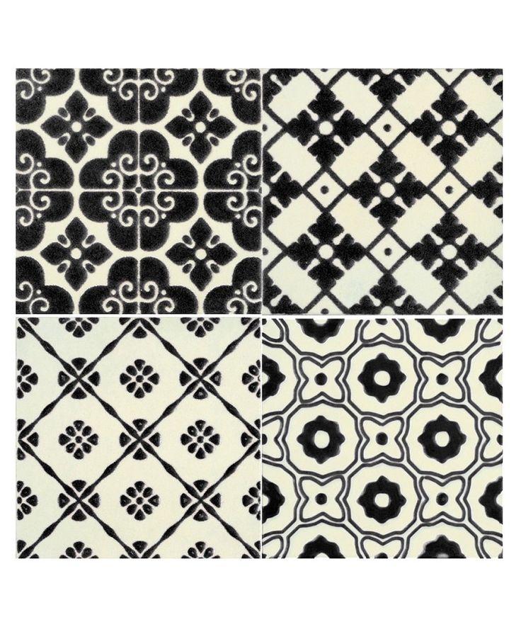 La Dolce Vita Patchwork Black 4 Tile Set  £122.11 /m2  £11.00 per box