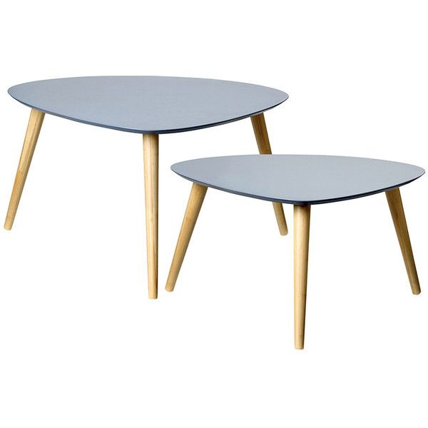 Bloomingville Coffee Tables   Set Of 2 (22,180 INR) ❤ Liked On Polyvore  Featuring