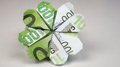Geldgeschenk Idee zum Geburtstag: Kleeblatt aus Eu…